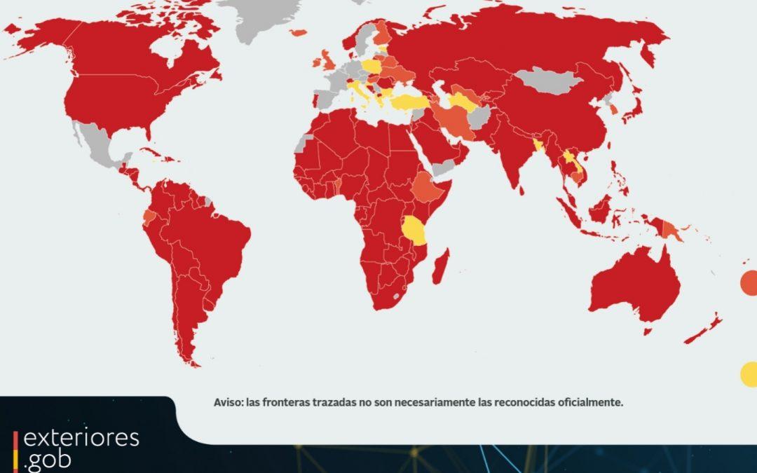 Países a los que no puedes viajar hoy desde España.